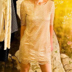 Dresses & Skirts - Size M gold sequin mini dress